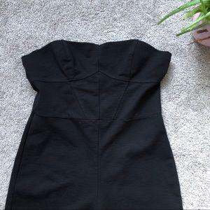 Topshop Black strapless jumpsuit-8
